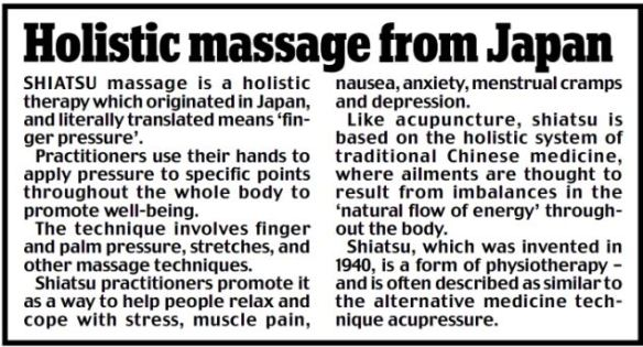 shiatsu article